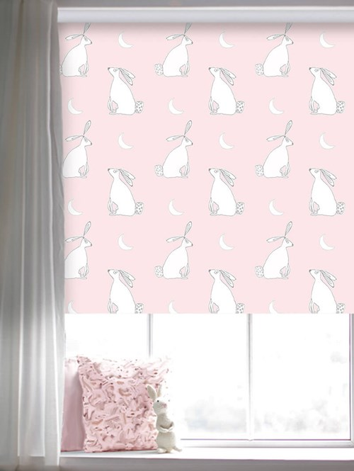 Moongazing on Blossom Roller Blind by Amanda Redwin