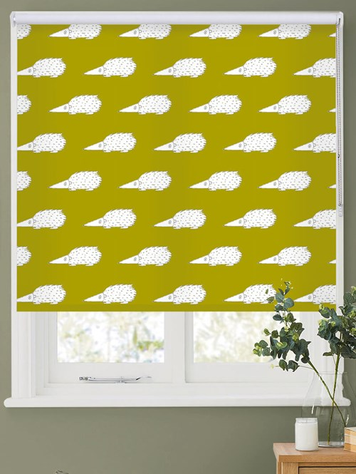 Prickles on Pear Roller Blind by Amanda Redwin