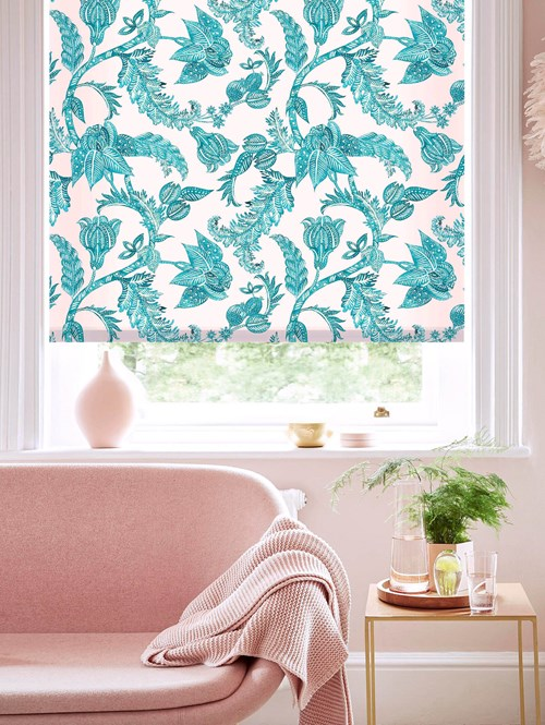 Java Blush Daylight Electric Roller Blind by Boon & Blake