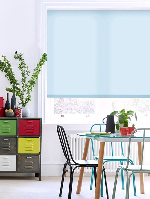 Georgia Blue Daylight Electric Roller Blind