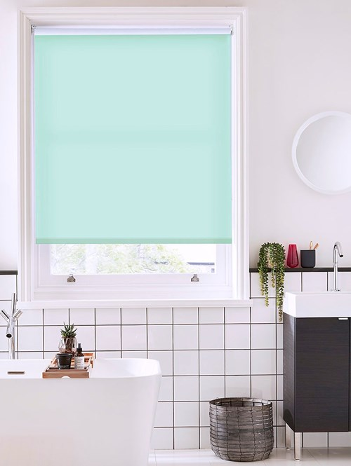 Mint Cream Daylight Electric Roller Blind