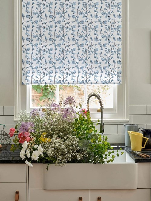 Bluebell Electric Roller Blind by Lorna Syson