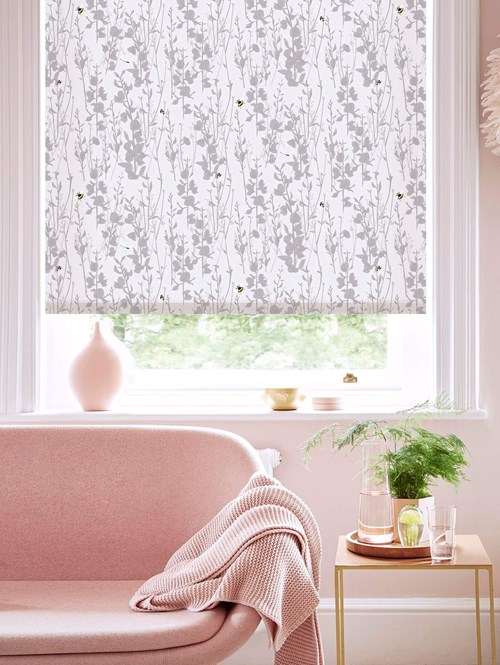 Broom and Bee Dusk Electric Roller Blind by Lorna Syson