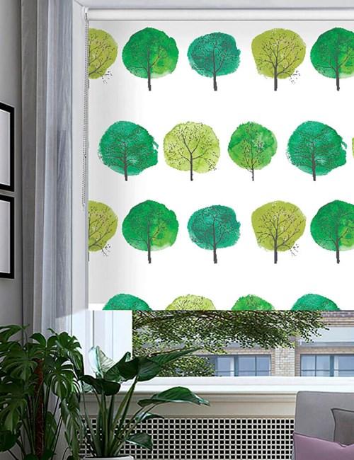 Forest Walks Green Floral Roller Blind
