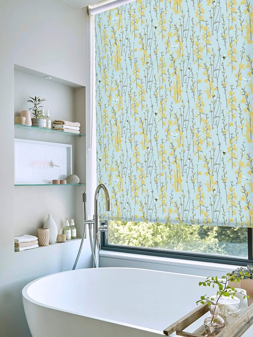 Broom and Bee Sky Roller Blind by Lorna Syson