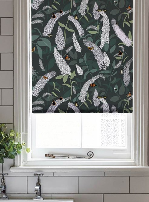 Buddleia Roller Blind by Lorna Syson