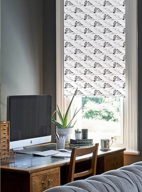 Willow Tit Roller Blind by Lorna Syson