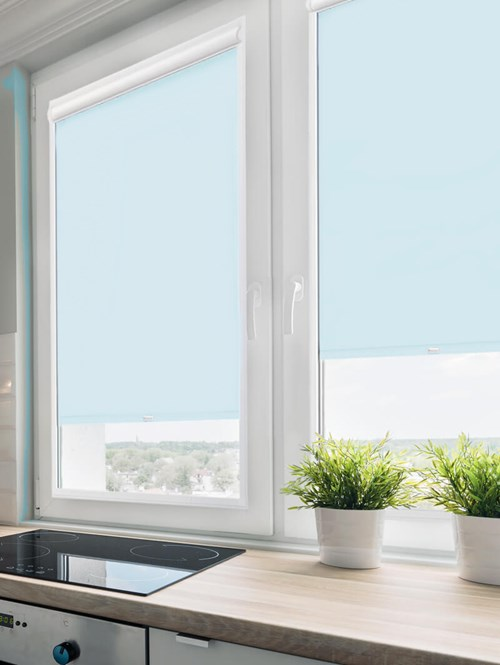 Daylight Georgia Blue Perfect Fit Roller Blind