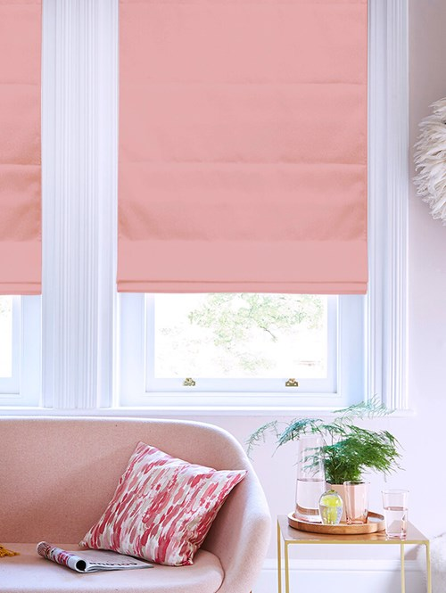 Begonia Electric Roman Blind