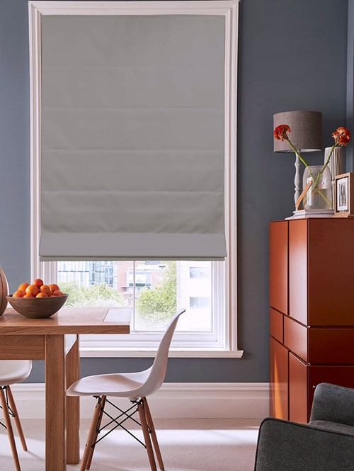Garden Path Grey Electric Roman Blind