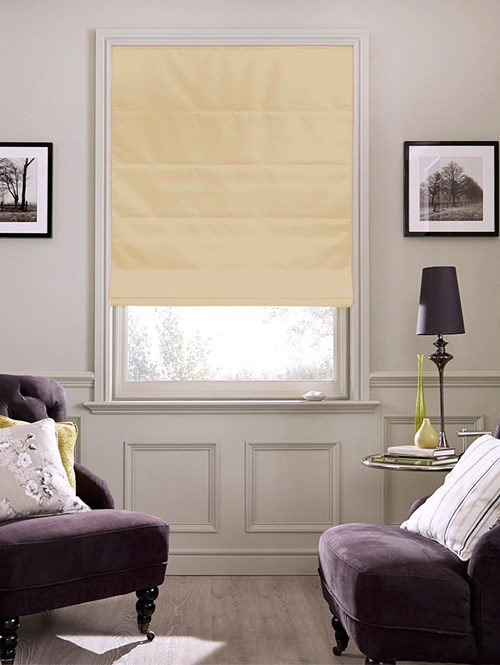Horchata Electric Roman Blind