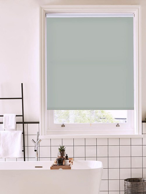 Paving Grey Daylight Cordless Spring Loaded Roller Blind