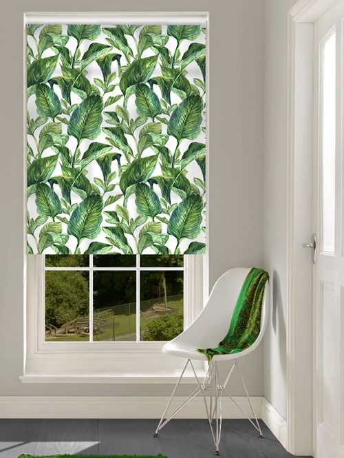 Daylight Jungle Leaves Day No Drill Roller Blind