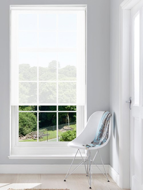 3% Sunscreen Lace White No Drill Roller Blind