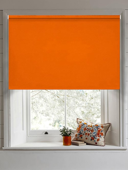 Action Orange Blackout Electric Roller Blind