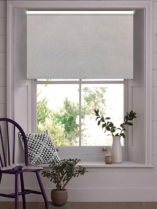 Windsor Light Grey Blackout Electric Roller Blind