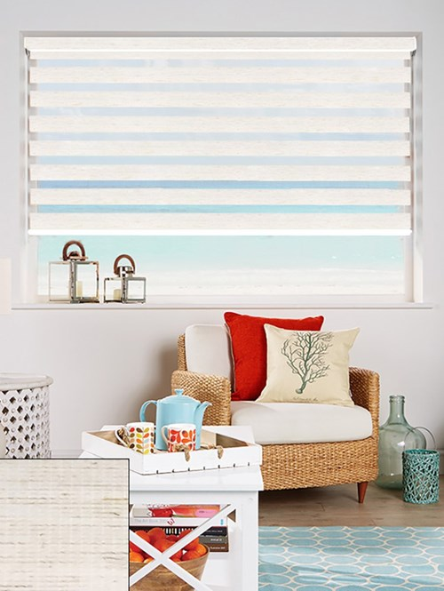 Linen Electric Day And Night Blind