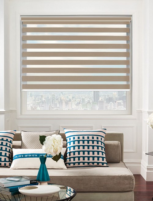 Taupe Electric Day And Night Blind