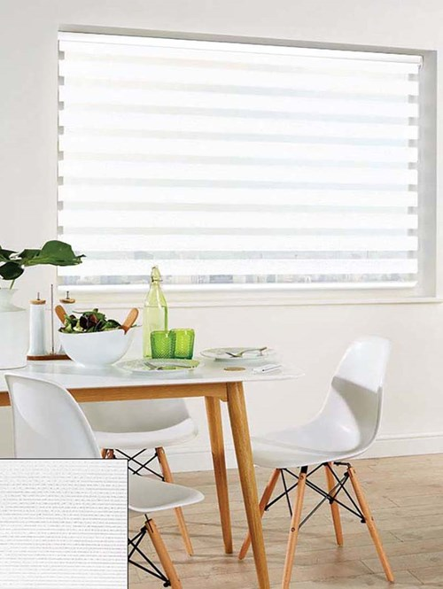 Alu-Weave White Electric Day And Night Blind