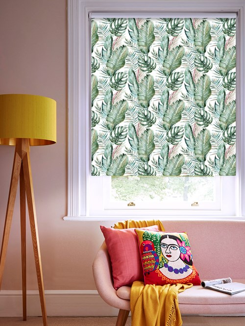 Botanica Daybreak Patterned Blackout Electric Roller Blind
