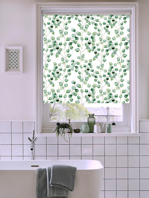 Climbers Natural Patterned Blackout Electric Roller Blind