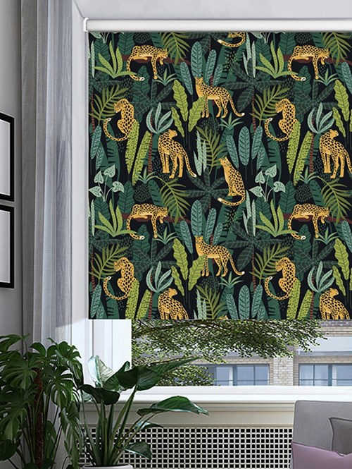 Jungalist Patterned Blackout Electric Roller Blind