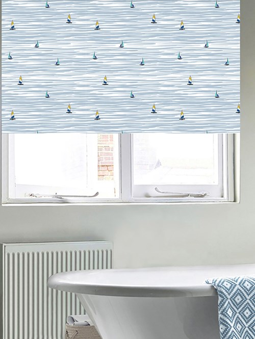 Navigate Patterned Blackout Electric Roller Blind