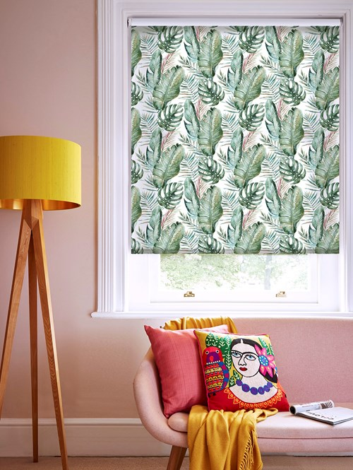 Botanica Daybreak Patterned Daylight Electric Roller Blind