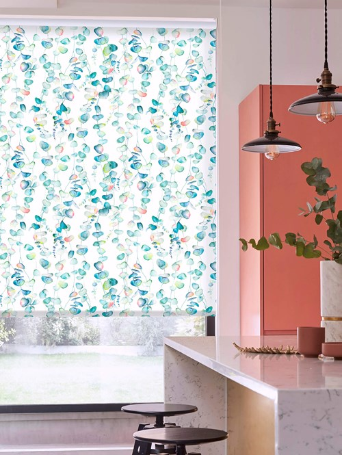 Eucalyptus Natural Patterned Daylight Electric Roller Blind