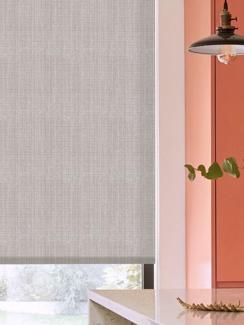 Islington Slate Patterned Daylight Electric Roller Blind