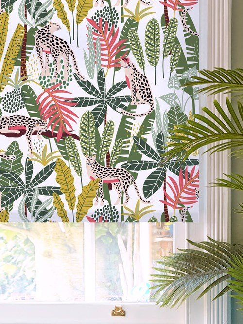 Jungalist Lime Daylight Electric Roller Blind
