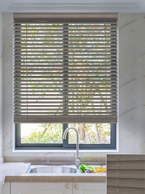 Embers 50mm Wooden Electric Venetian Blind