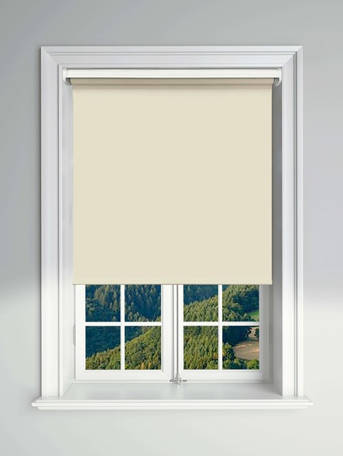 Essential Beige Electric Blackout Roller Blind