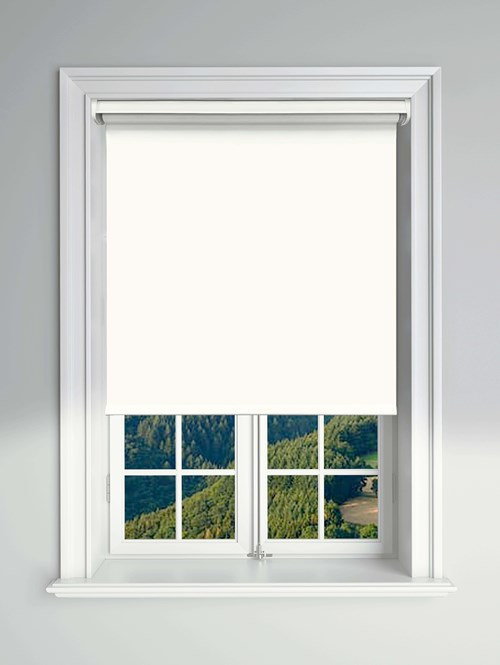 Essential White Electric Blackout Roller Blind