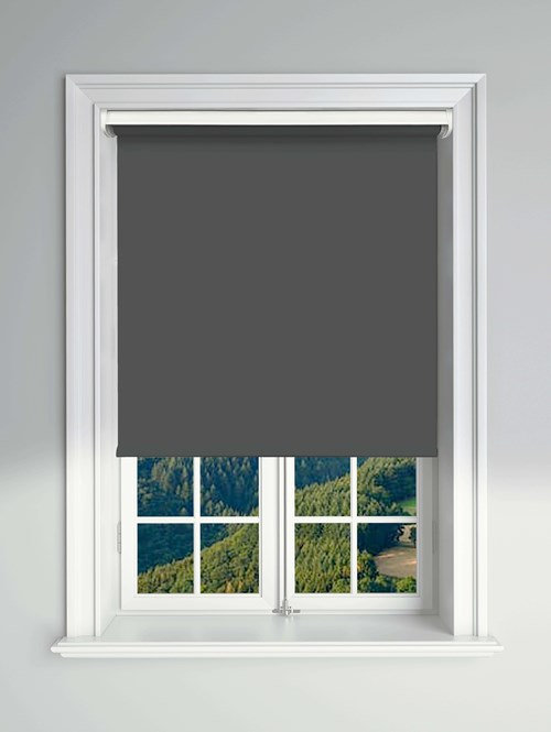 Essential Zinc Electric Blackout Roller Blind