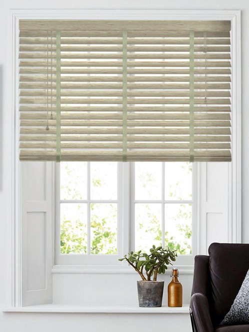 Woodgrain Toasted Grey 50mm Faux Wood Venetian Blind With Tapes