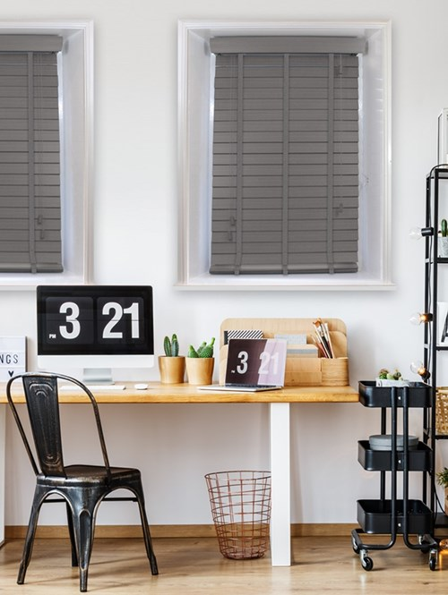 Flint 50mm Faux Wood Venetian Blind With Tapes