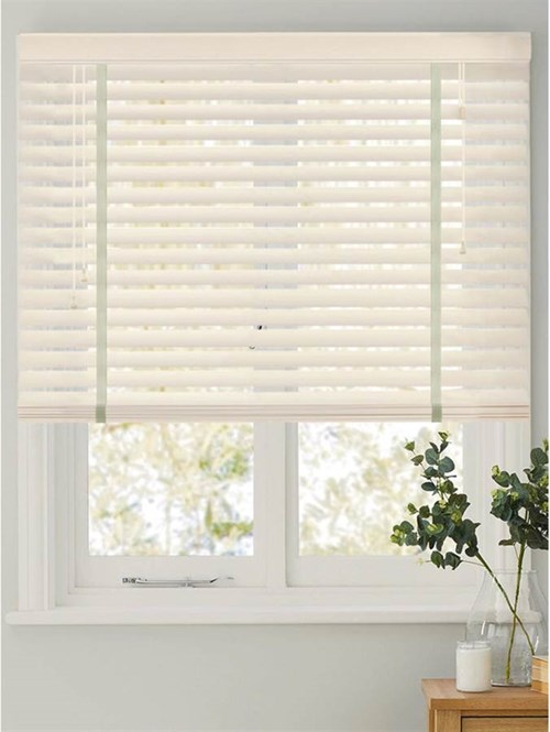 Silhouette 50mm Faux Wood Venetian Blind With Tapes