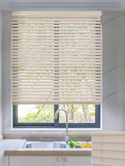Fossil 50mm Wooden Electric Venetian Blind
