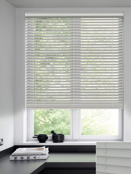 Fresco 50mm Wooden Electric Venetian Blind