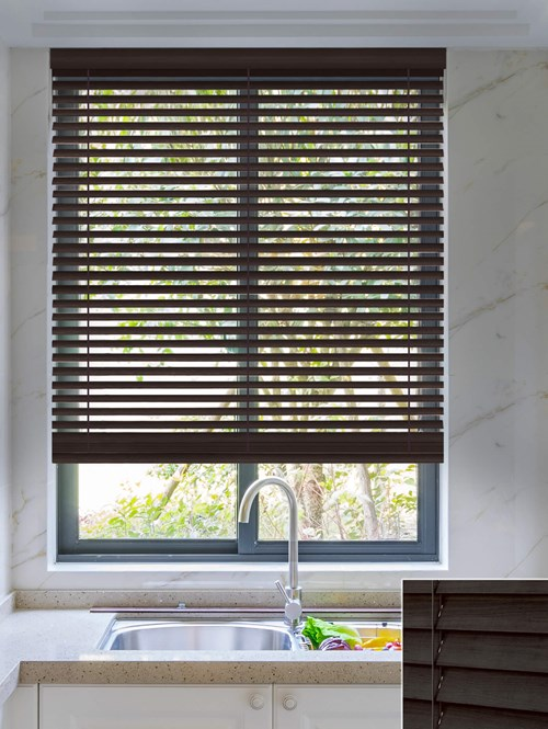 Gatsby 50mm Wooden Electric Venetian Blind