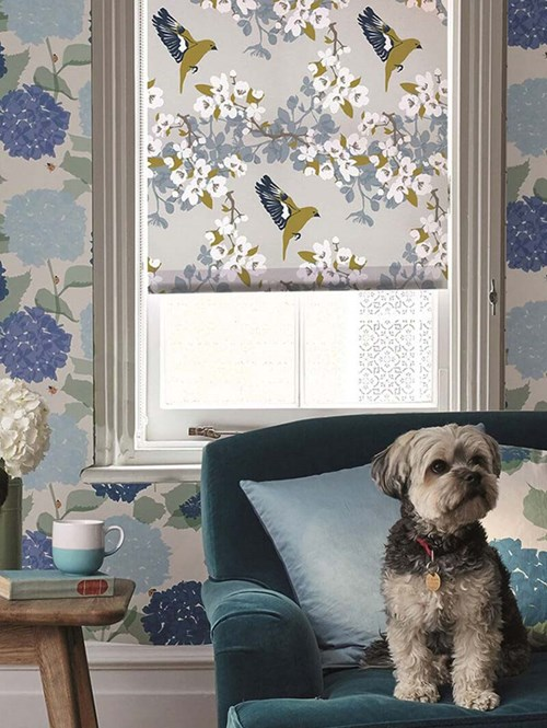 Greenfinch Electric Roller Blind by Lorna Syson