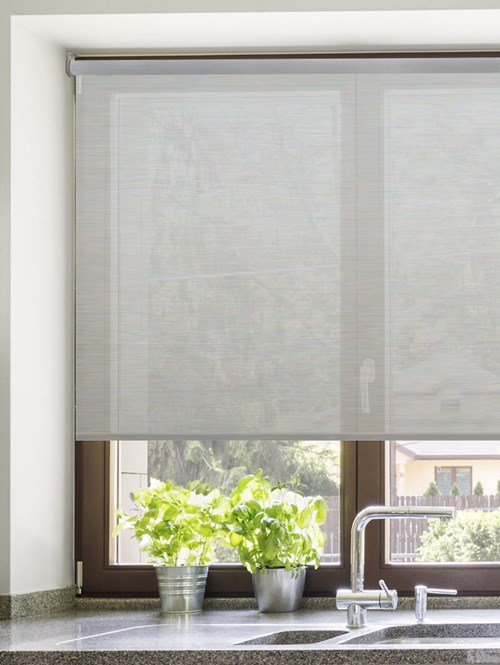 Grey 3% Sunscreen Electric Roller Blind