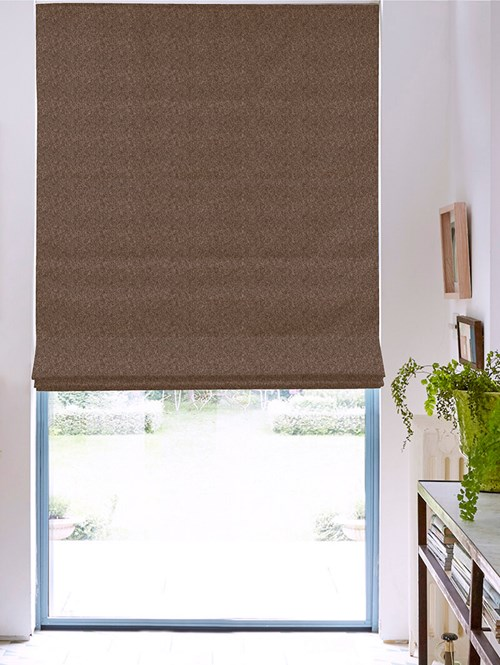 Hampton Noisette Blackout Electric Roman Blind