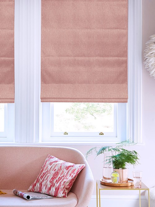 Hampton Pavlova Blackout Electric Roman Blind