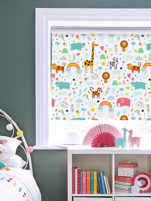 Happy Jungle Candy Blackout Roller Blind