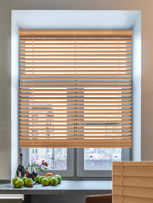 Honeycomb 50mm Wooden Electric Venetian Blind