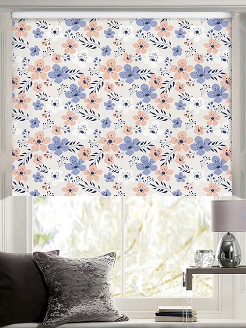 In Bloom Patterned Daylight Electric Roller Blind