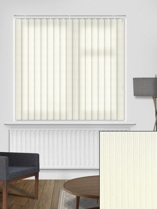 Candy Stripe Cream 89mm Vertical Blind Replacement Slats