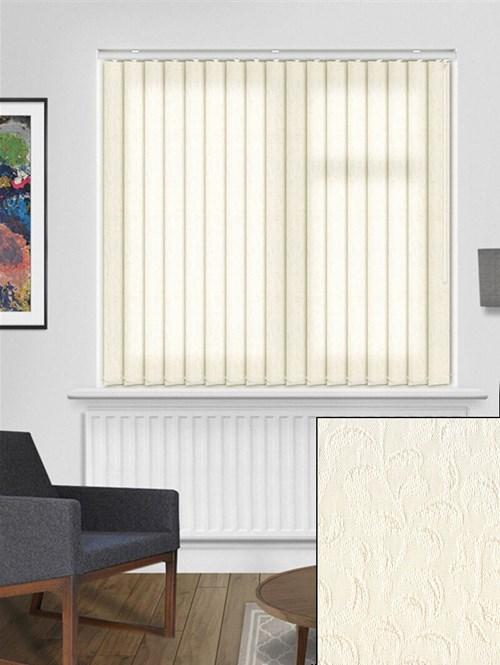 Hedera Cream 89mm Dim-Out Vertical Blind